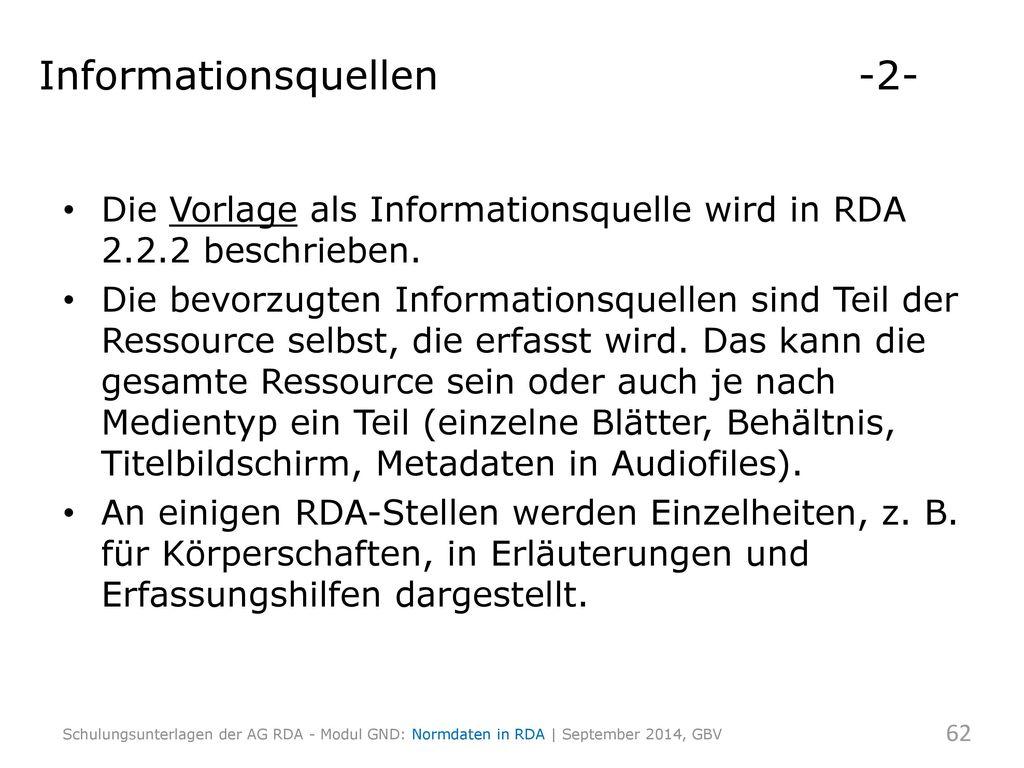 Informationsquellen -2-