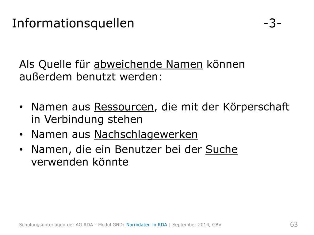 Informationsquellen -3-