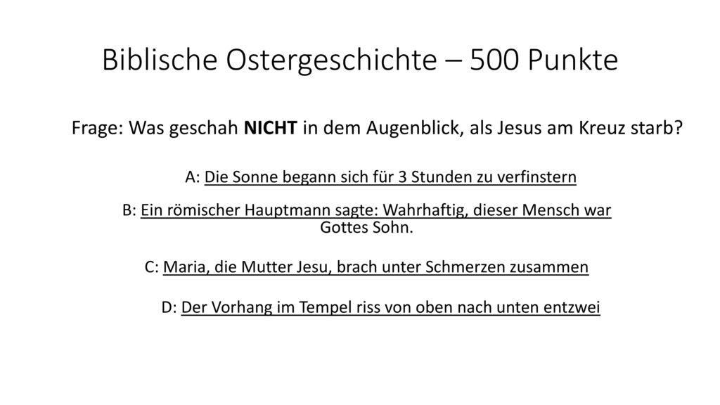Biblische Ostergeschichte – 500 Punkte