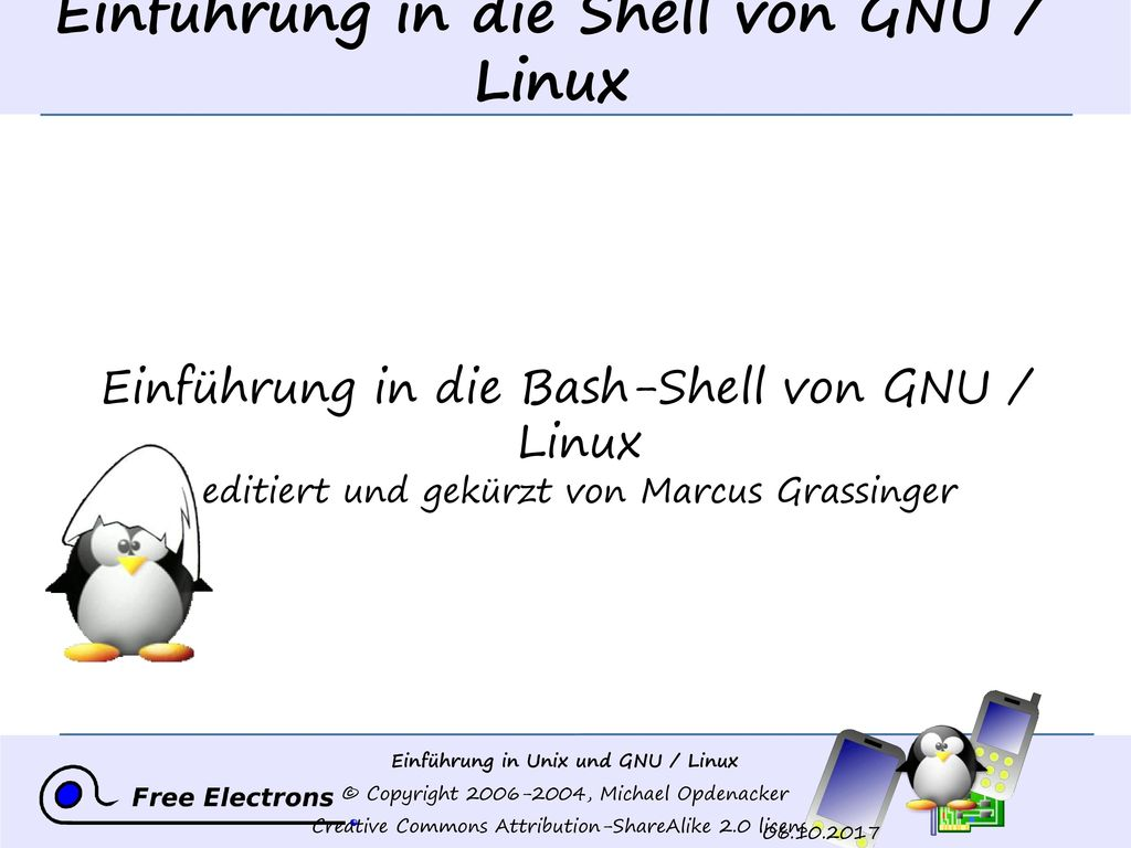 Einführung in die Shell von GNU / Linux