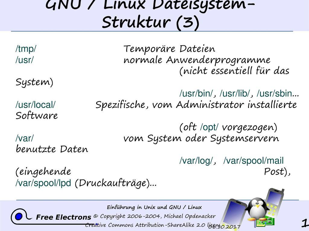 GNU / Linux Dateisystem- Struktur (3)