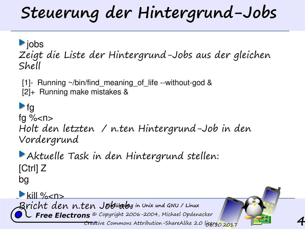 Steuerung der Hintergrund-Jobs