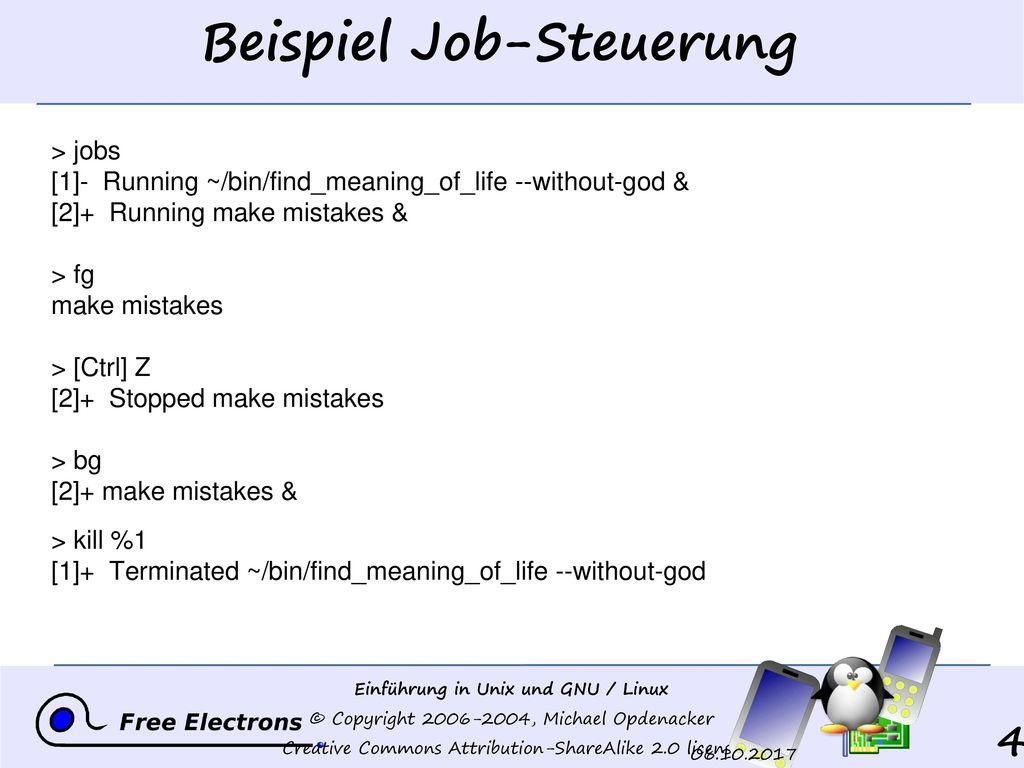 Beispiel Job-Steuerung