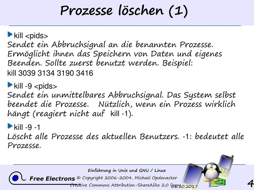 Prozesse löschen (1)