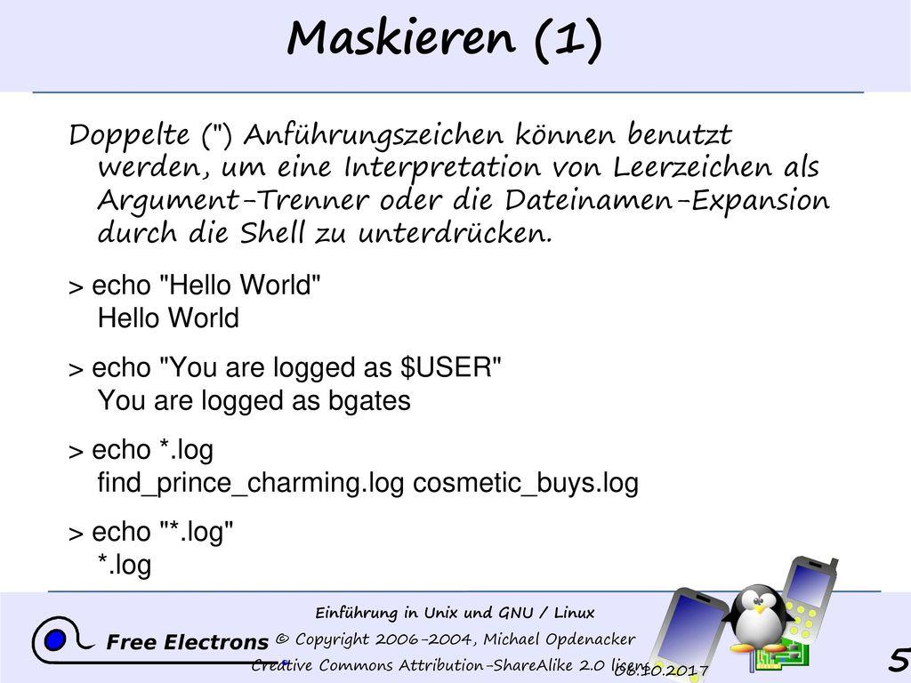 Maskieren (1)