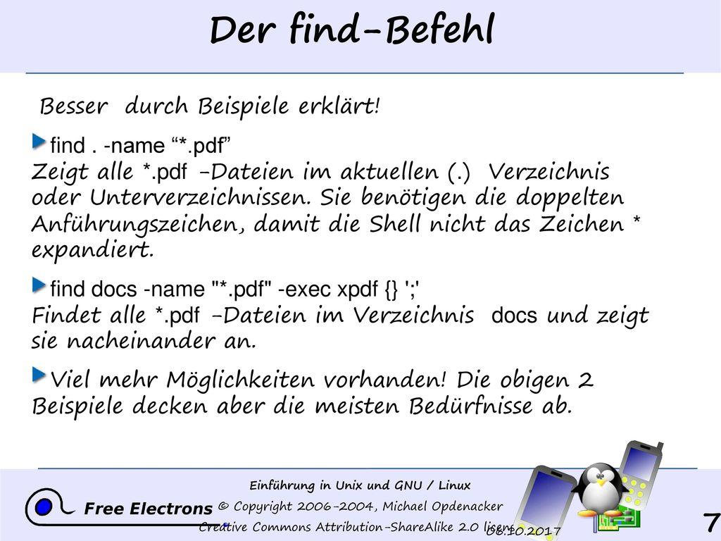 Der find-Befehl Besser durch Beispiele erklärt!