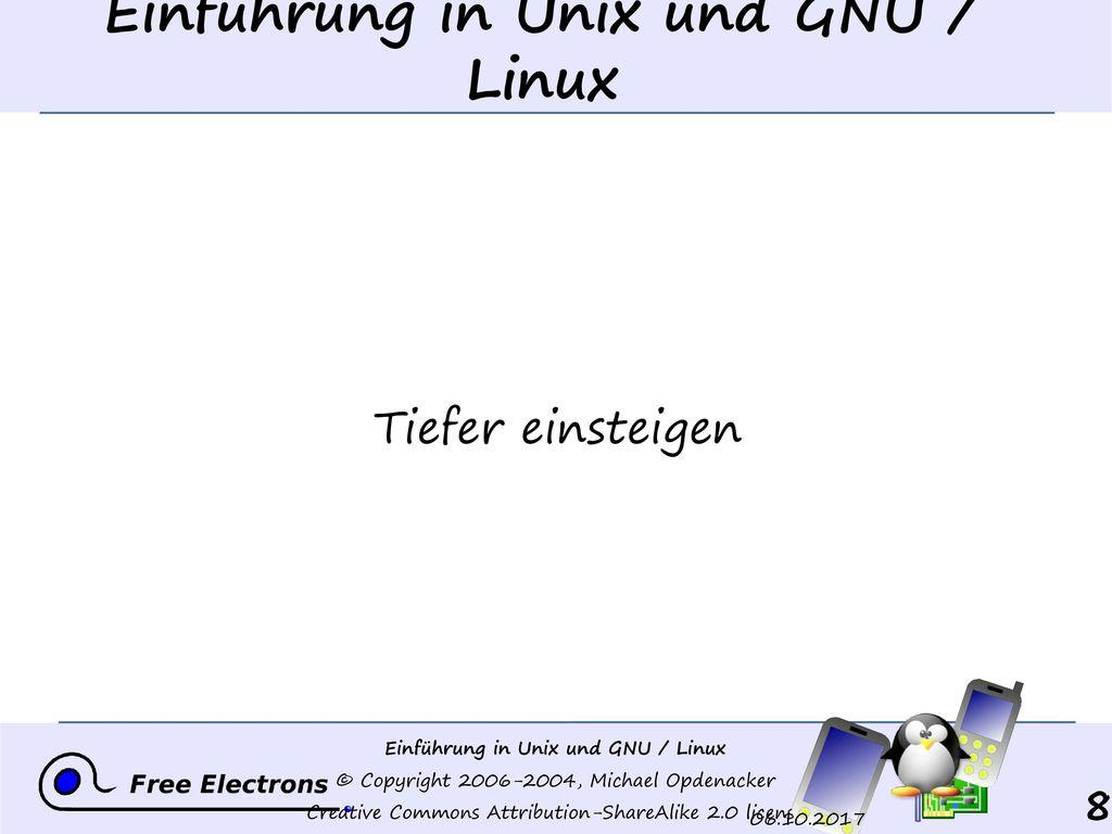 Einführung in Unix und GNU / Linux