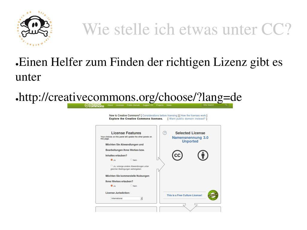 Die sechs Lizenzen Icons Kurzform Bedeutung by Namensnennung by-sa