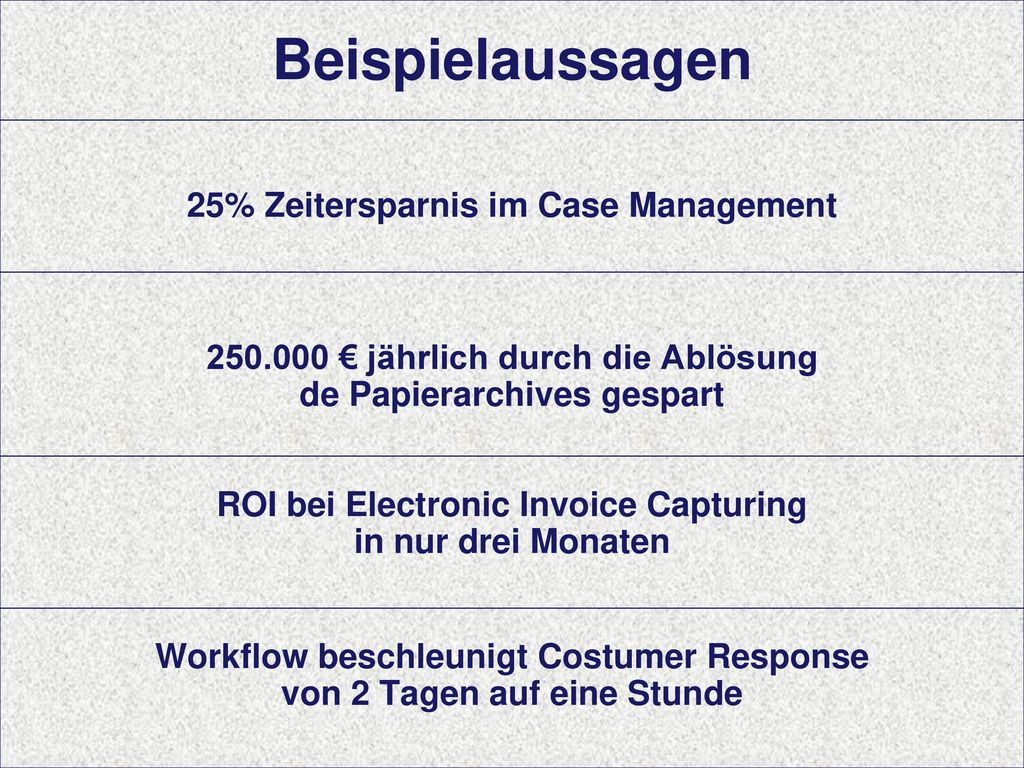 Beispielaussagen Sucess Stories