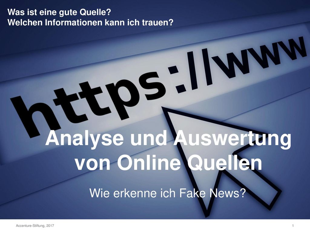 Analyse und Auswertung von Online Quellen