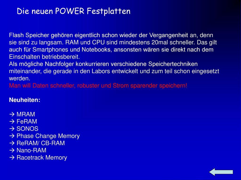Die neuen POWER Festplatten