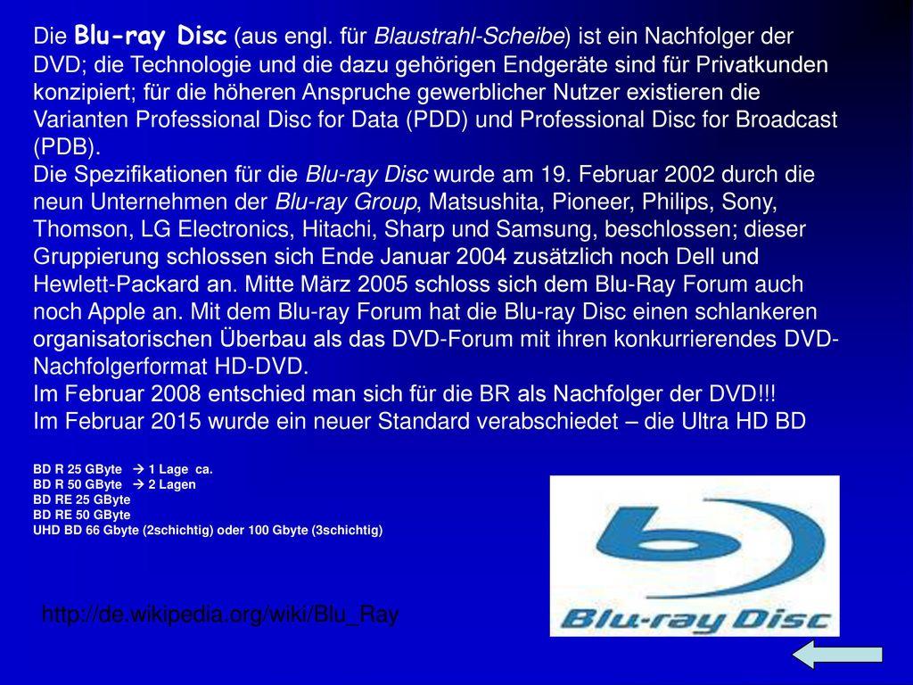 Die Blu-ray Disc (aus engl