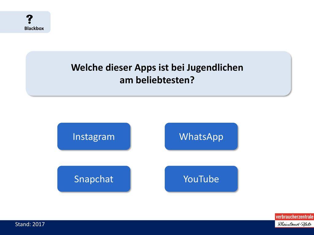 Welche dieser Apps ist bei Jugendlichen am beliebtesten