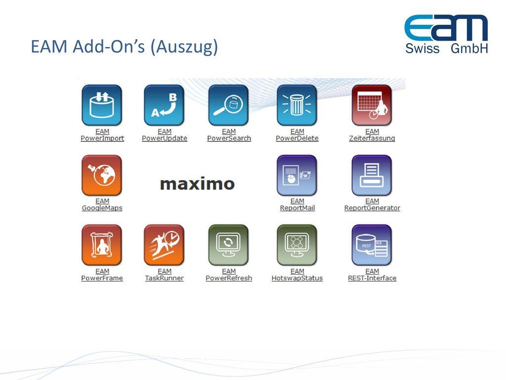 EAM Add-On's (Auszug)