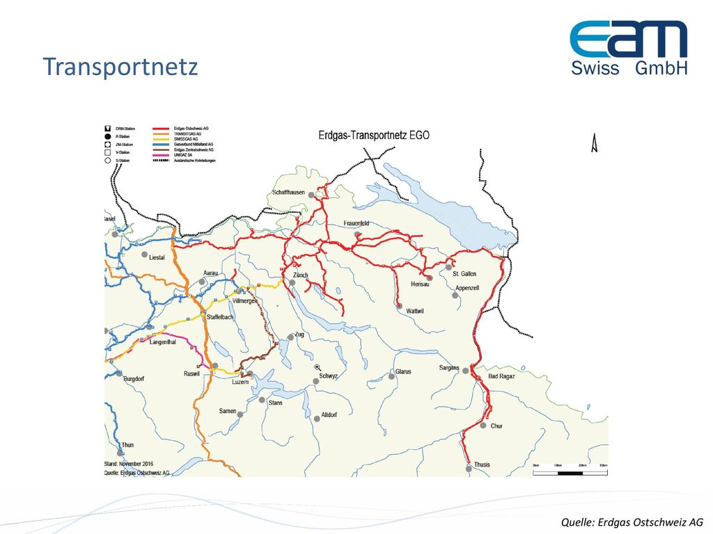 Transportnetz Quelle: Erdgas Ostschweiz AG