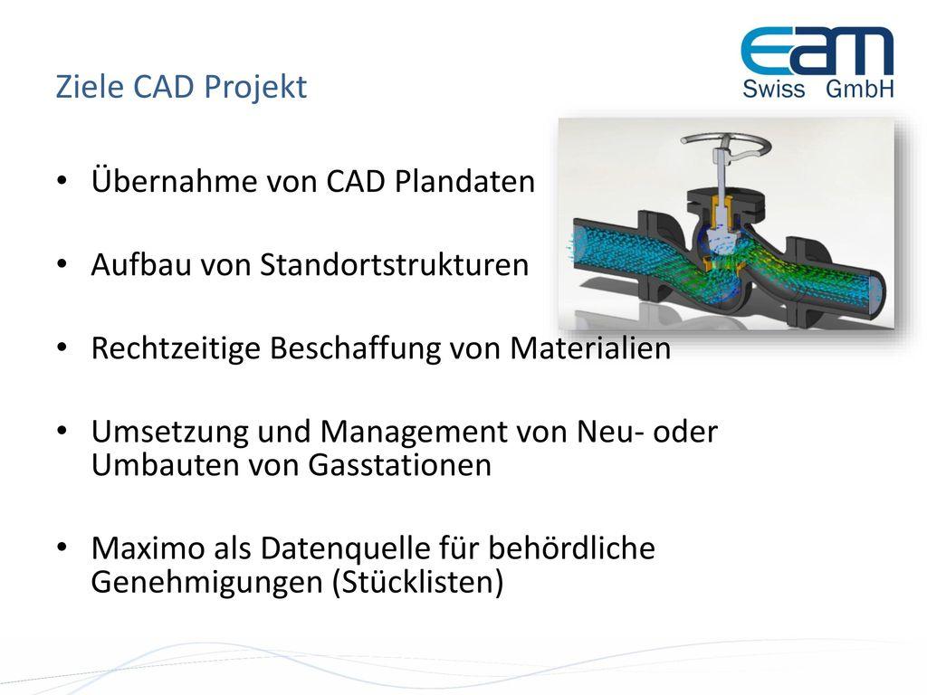 Ziele CAD Projekt Übernahme von CAD Plandaten