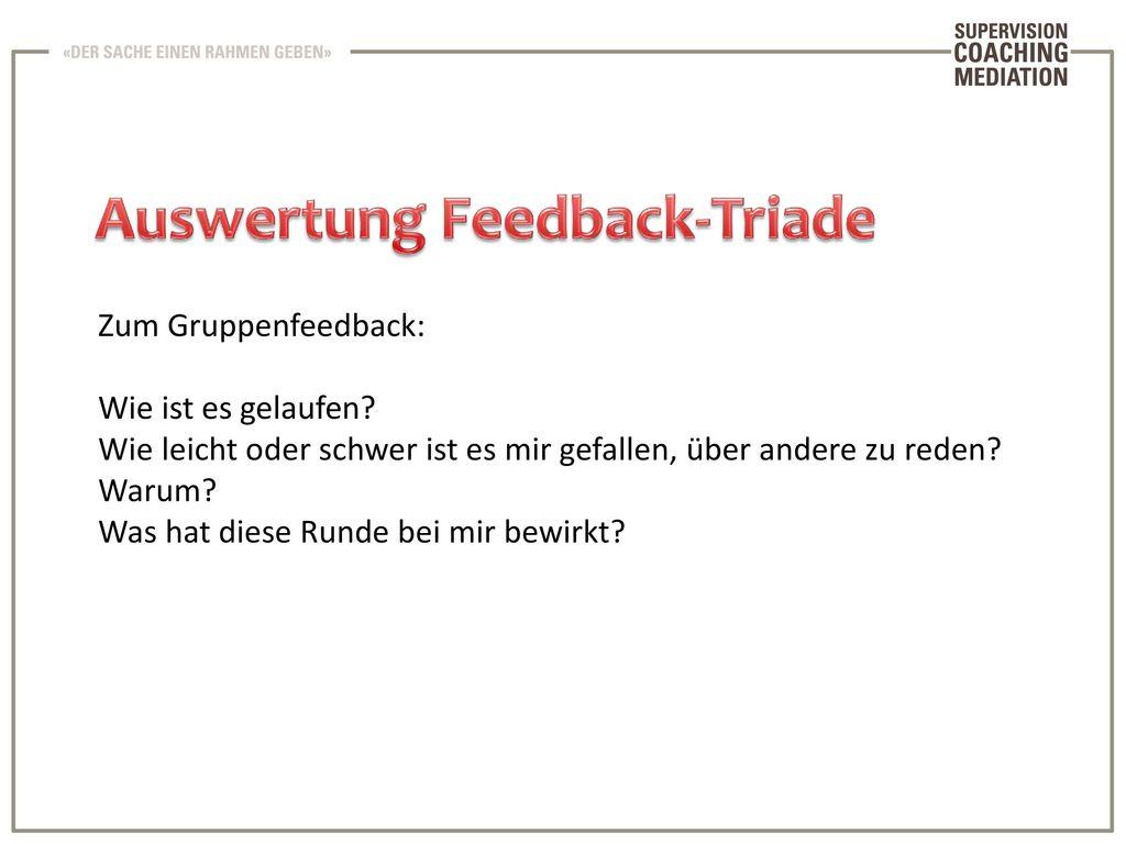 Auswertung Feedback-Triade