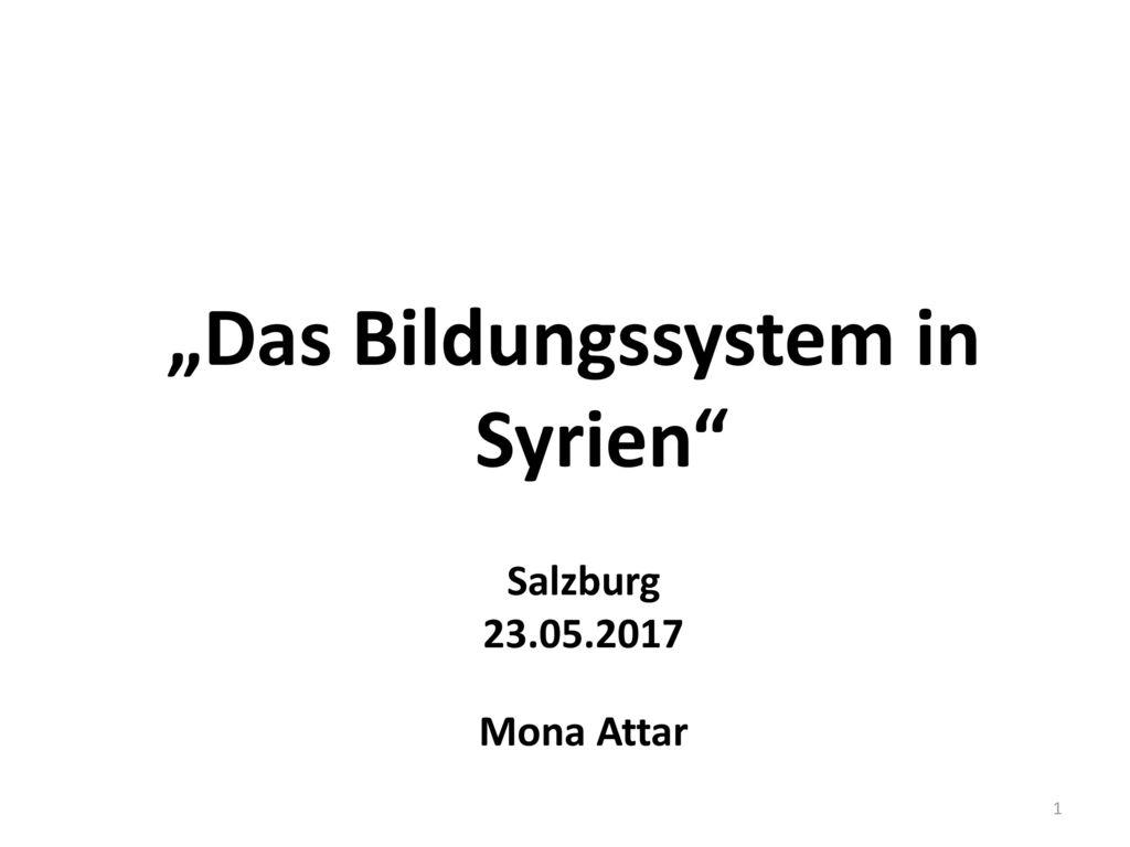 """""""Das Bildungssystem in Syrien"""