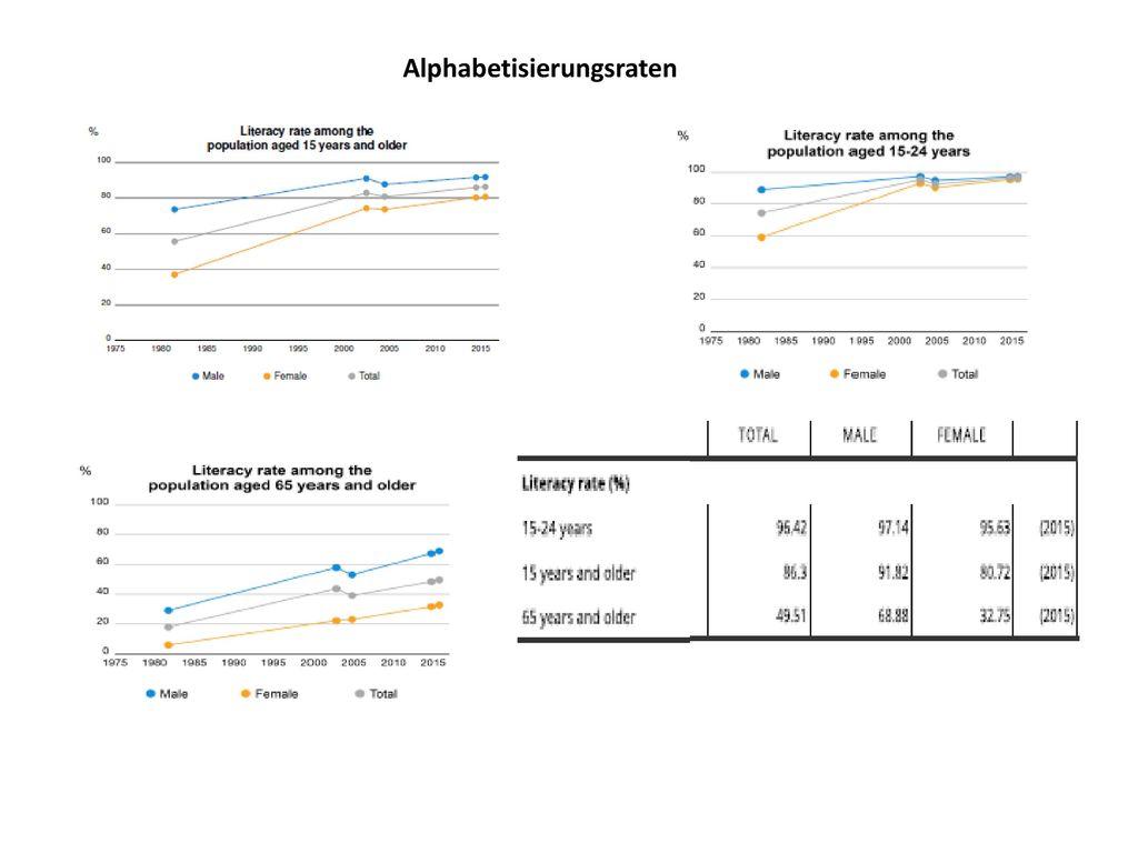 Alphabetisierungsraten