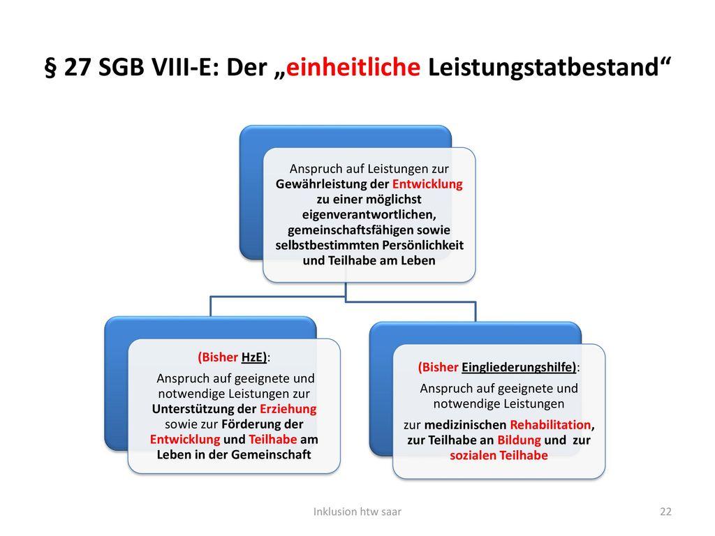 """§ 27 SGB VIII-E: Der """"einheitliche Leistungstatbestand"""