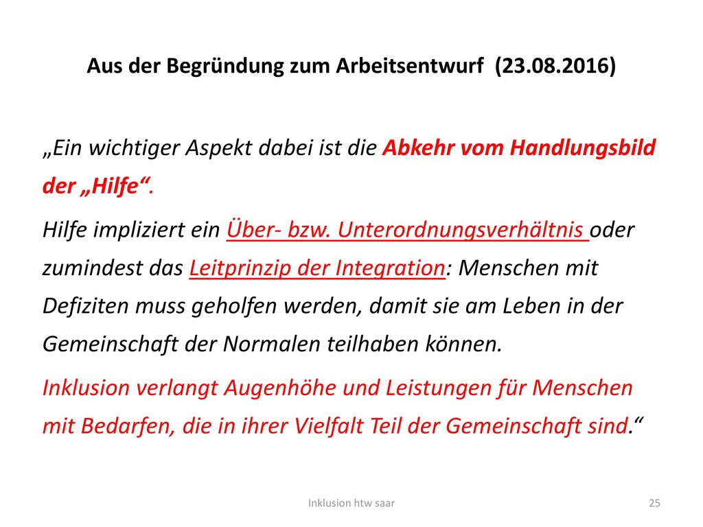 Aus der Begründung zum Arbeitsentwurf (23.08.2016)