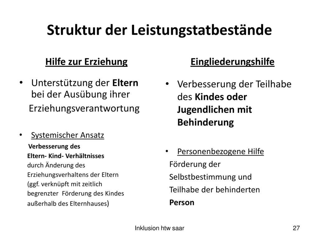 Struktur der Leistungstatbestände