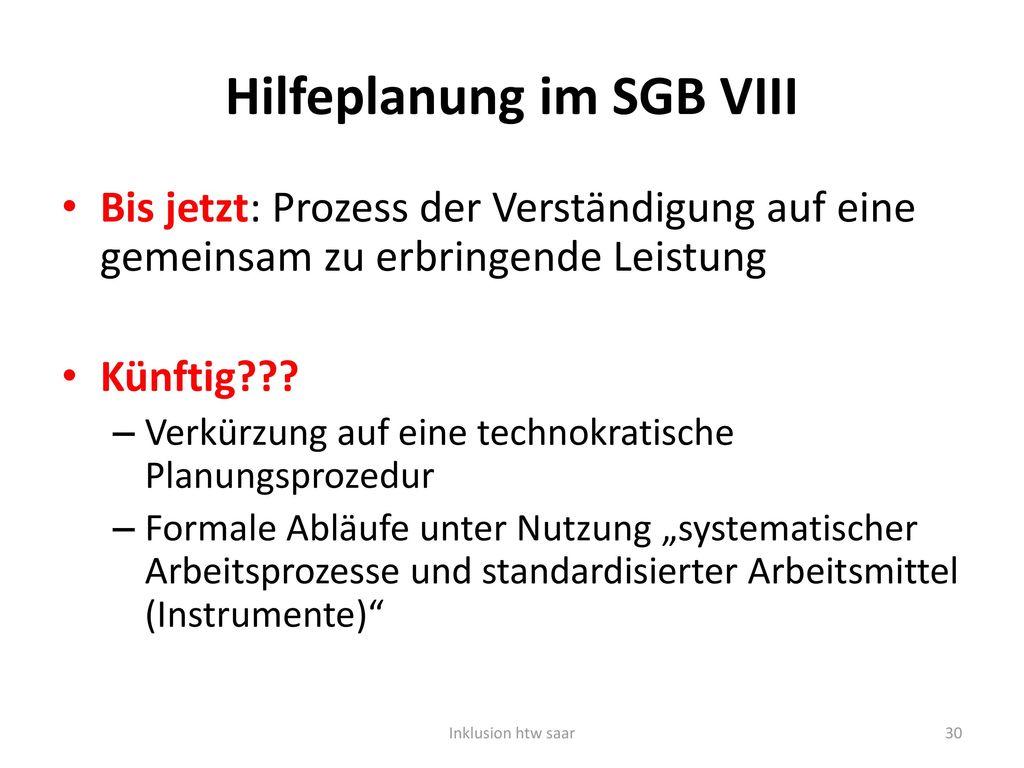 Hilfeplanung im SGB VIII