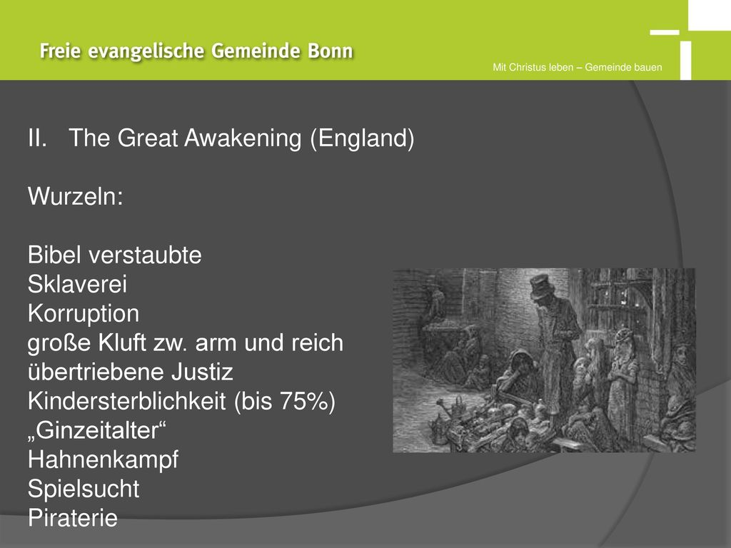 The Great Awakening (England) Wurzeln: Bibel verstaubte Sklaverei