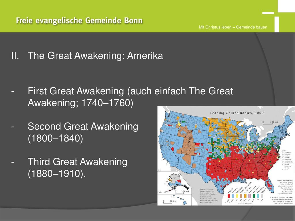 The Great Awakening: Amerika