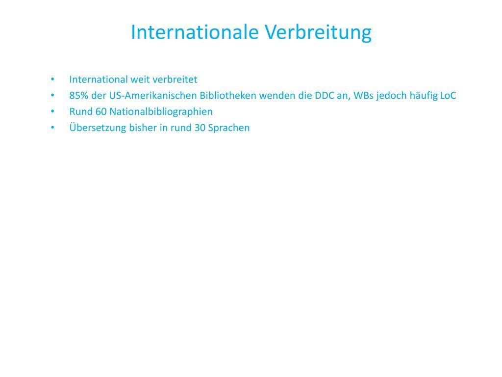 Internationale Verbreitung