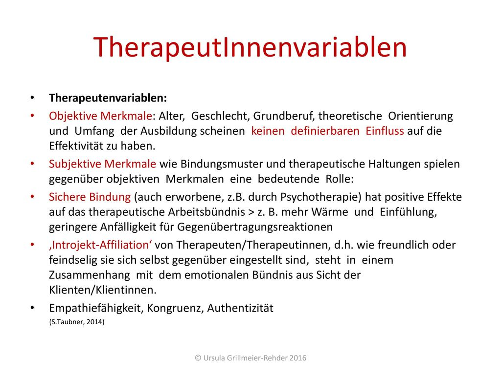 TherapeutInnenvariablen
