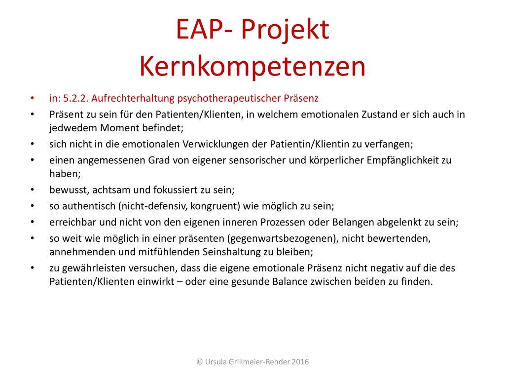 EAP- Projekt Kernkompetenzen