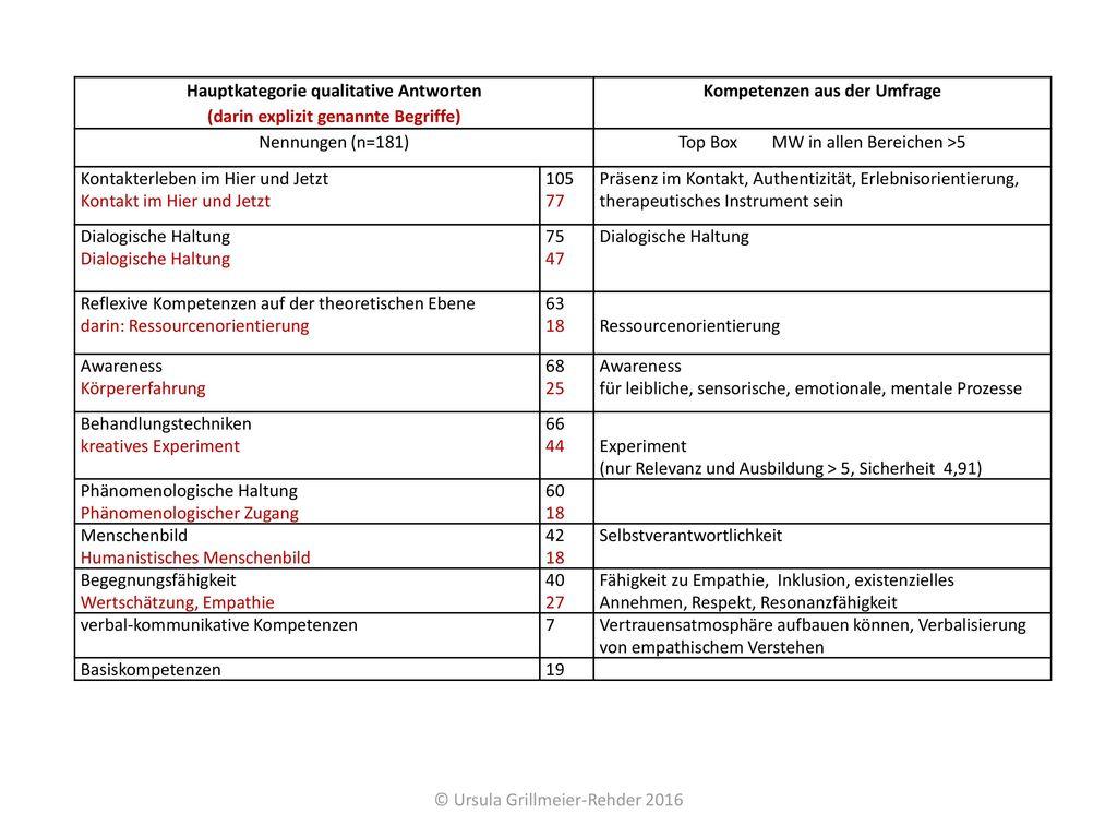 Hauptkategorie qualitative Antworten
