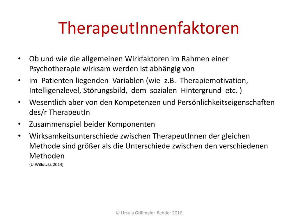 TherapeutInnenfaktoren