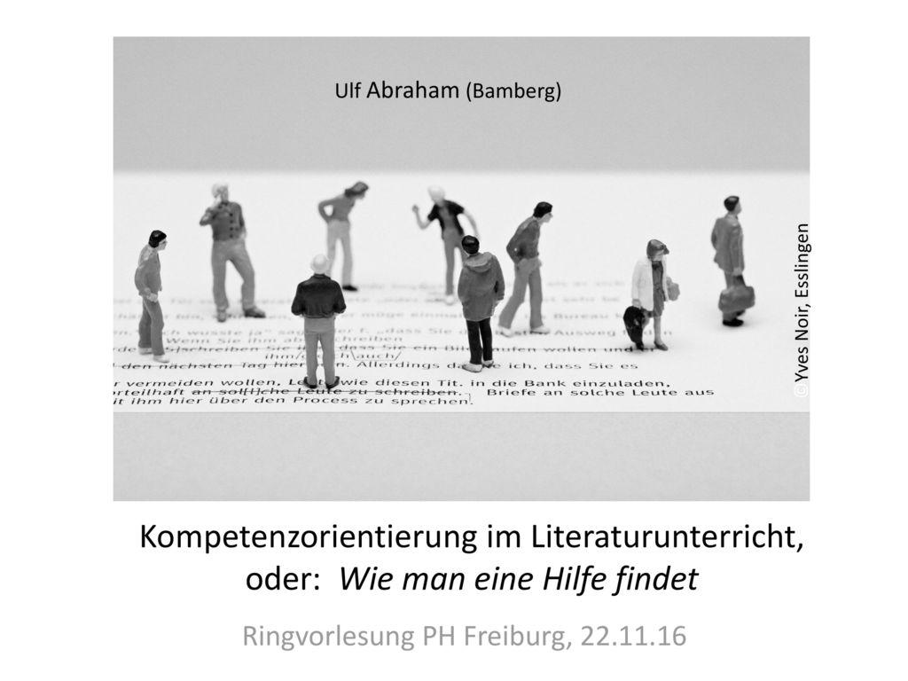 Ringvorlesung PH Freiburg, 22.11.16