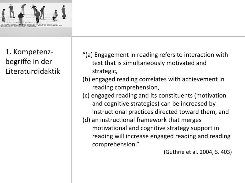 1. Kompetenz-begriffe in der Literaturdidaktik