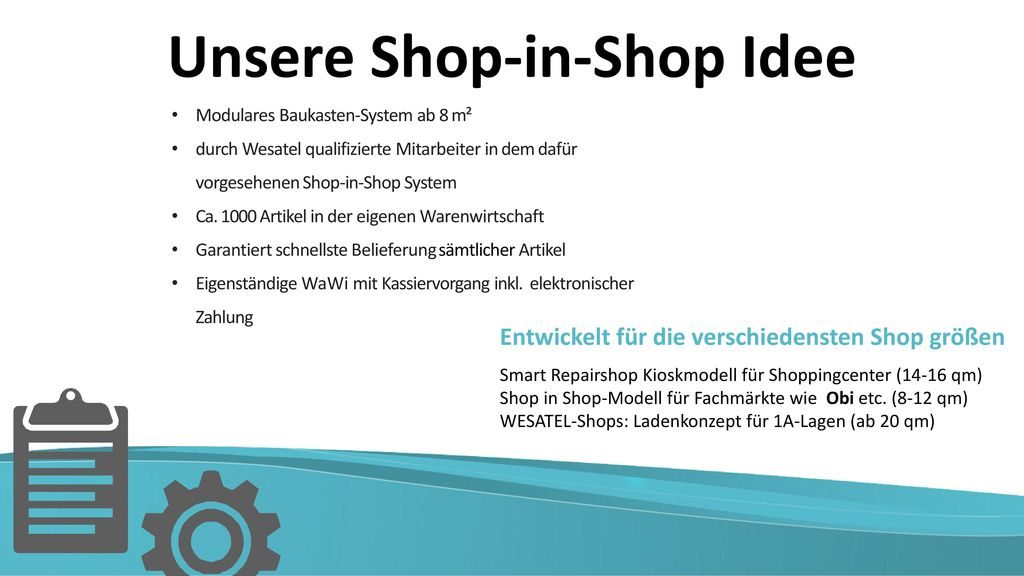 Unsere Shop-in-Shop Idee