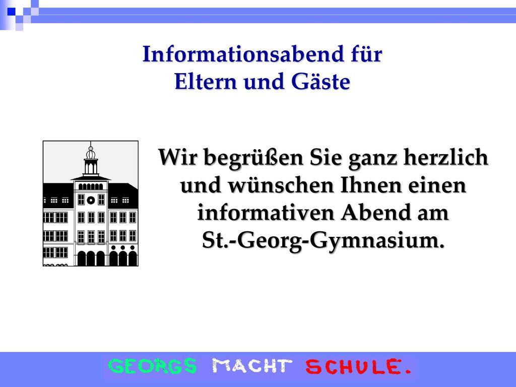 Informationsabend für Eltern und Gäste