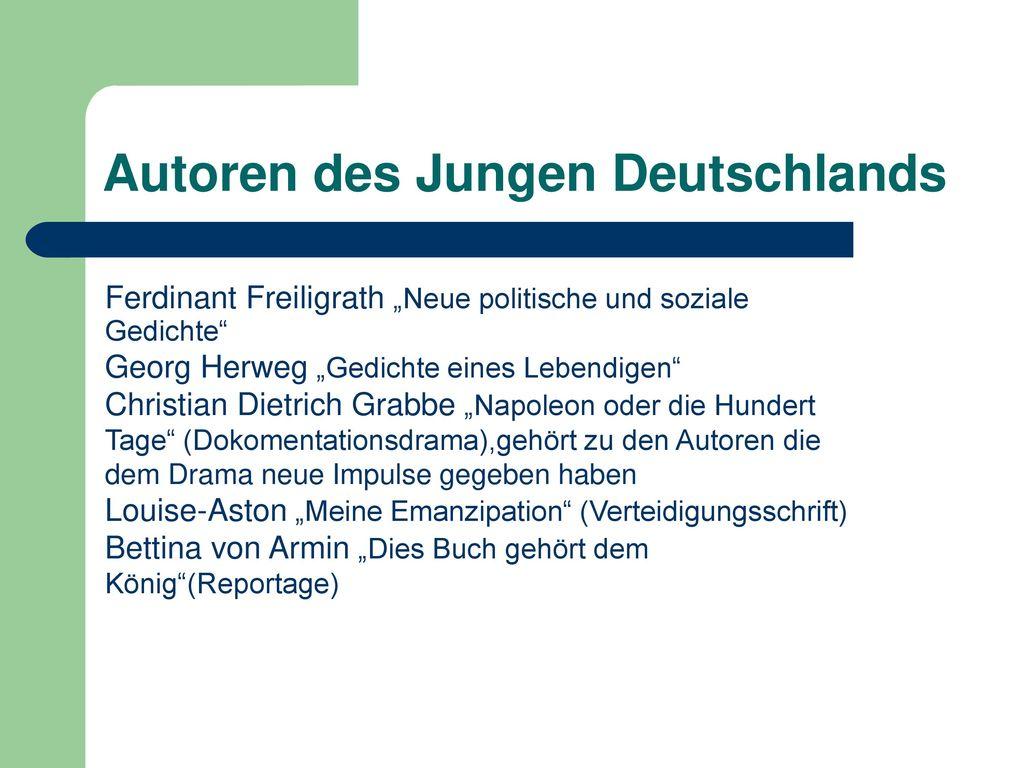 Junges Deutschland - allgemein