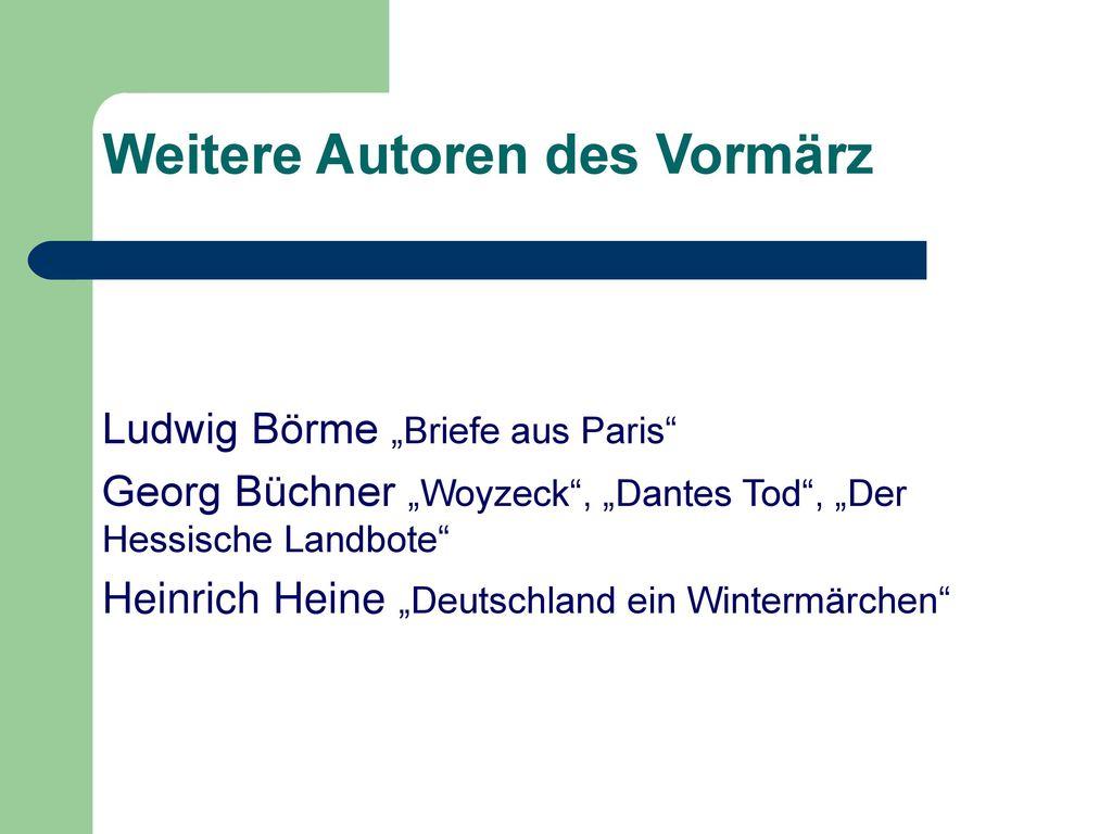Autoren des Jungen Deutschlands