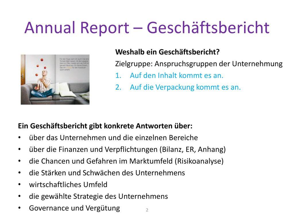 Annual Report – Geschäftsbericht