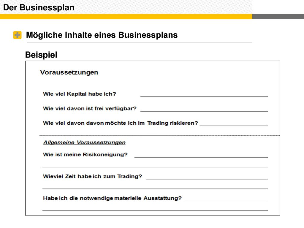 Beste Beispiel Eines Business Plans Ideen - Entry Level Resume ...