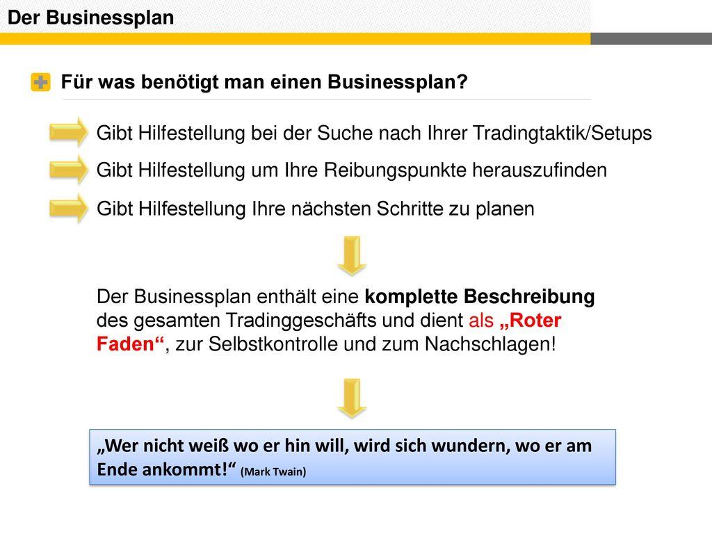 Für was benötigt man einen Businessplan