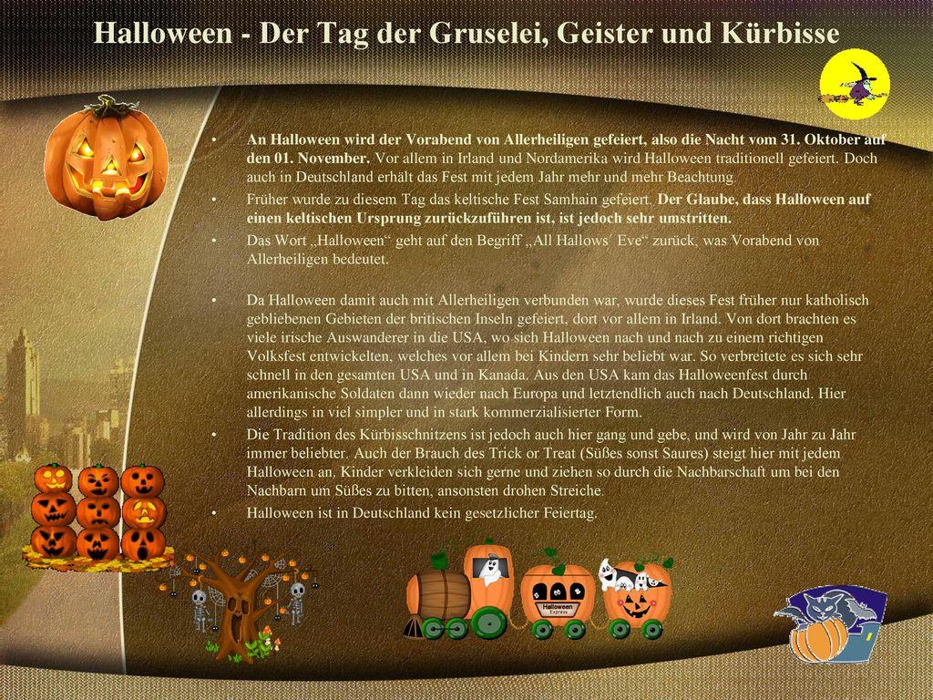 Halloween - Der Tag der Gruselei, Geister und Kürbisse