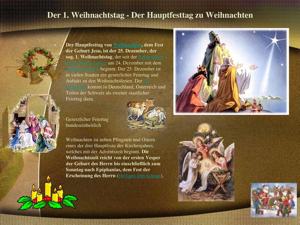 Der 1. Weihnachtstag - Der Hauptfesttag zu Weihnachten