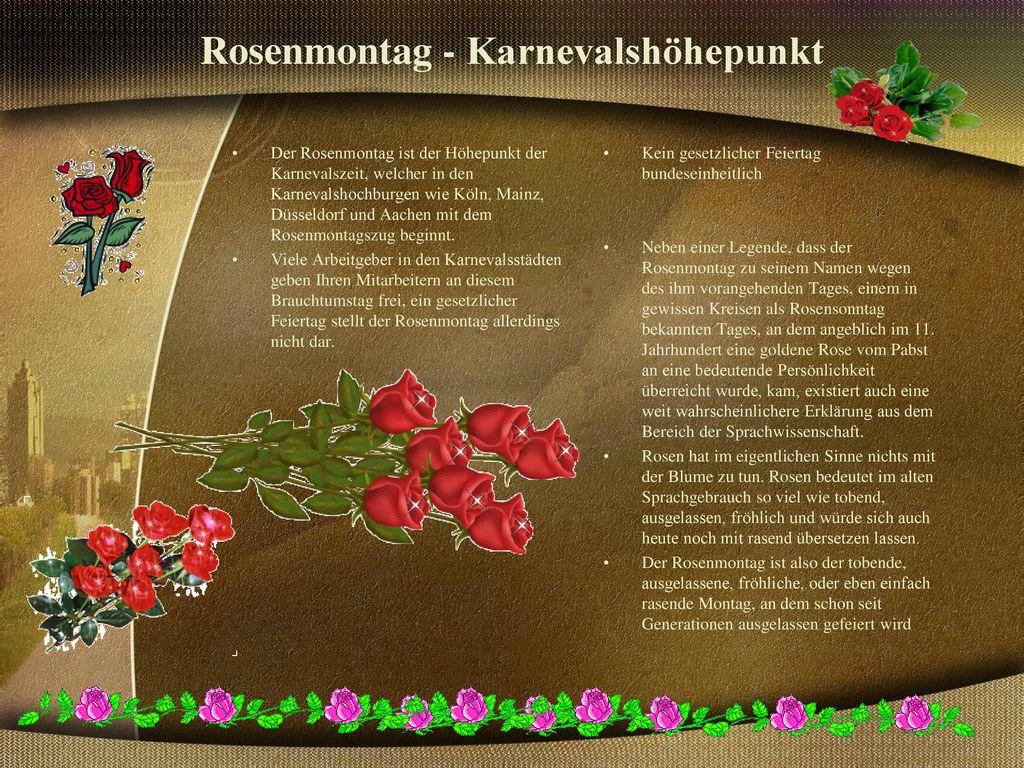 Rosenmontag - Karnevalshöhepunkt