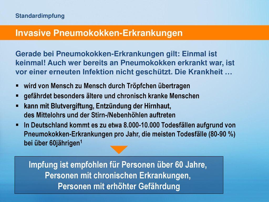 Invasive Pneumokokken-Erkrankungen
