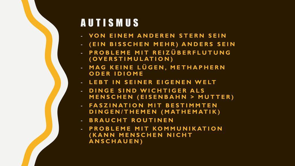 Autismus von einem anderen Stern sein (ein bisschen mehr) anders sein