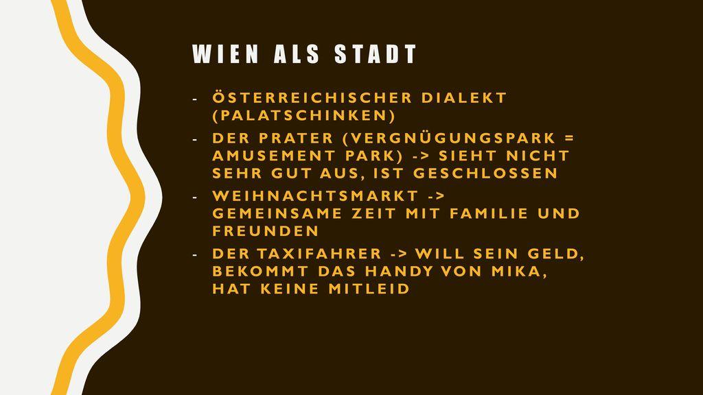 Wien als Stadt Österreichischer Dialekt (Palatschinken)