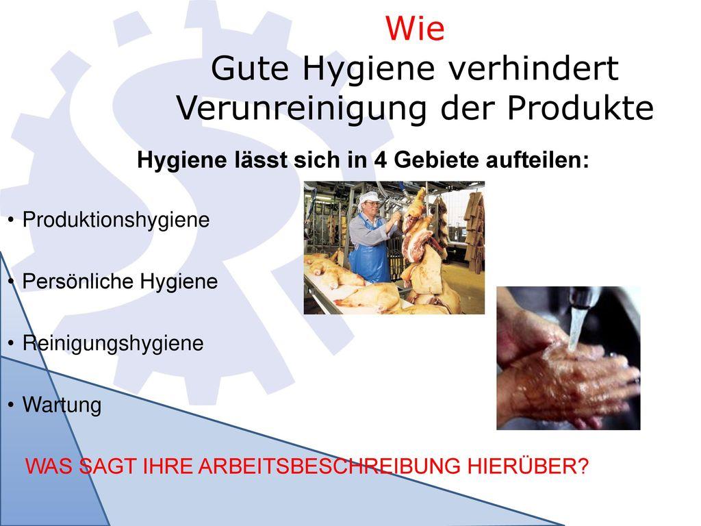 Wie Gute Hygiene verhindert Verunreinigung der Produkte